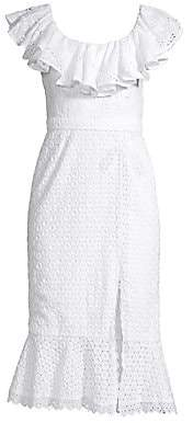 Saloni Women's Ella Broderie Anglaise Ruffle Dress - Size 0