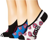 Vans Eye See You Canoodles 3-Pair Pack Women's Crew Cut Socks Shoes