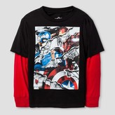 Marvel Boys' Uncivilized Long Sleeve Graphic T-Shirt Black/Red
