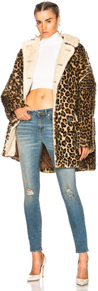 R 13 Leopard Huntington Coat in Leopard | FWRD