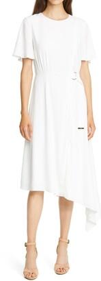 Ted Baker Marniee Asymmetrical Hem Midi Dress