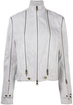 J.W.Anderson zip detail denim jacket - women - Cotton - 8