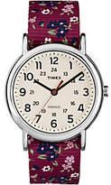 Timex Weekender Violet Floral Reversible StrapWatch