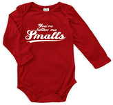 Urban Smalls Red 'You're Killin' Me Smalls' Long-Sleeve Bodysuit - Infant