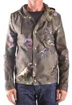 Daniele Alessandrini Men's Green Polyester Outerwear Jacket.