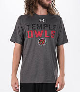 Under Armour Men's Temple Owls College Wordmark T-Shirt