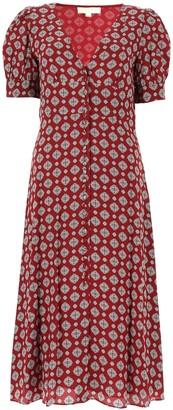 MICHAEL Michael Kors Floral Print Crepe Dress