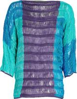 Alberta Ferretti Colorblock Linen Top