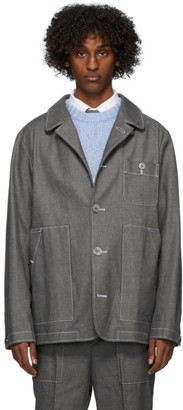 Thom Browne Grey Patch Pocket Denim Jacket
