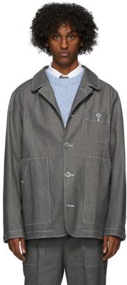 Thom Browne Grey Patch Pocket Denim Jacket