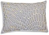 Callisto Home Laser-Cut Linen & Calf Hair Throw Pillow