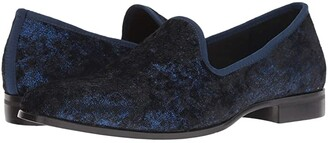 Stacy Adams Sultan Velour Loafer (Black) Men's Dress Flat Shoes