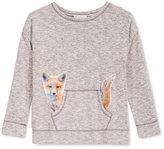 Jessica Simpson Fox Graphic Sweatshirt, Big Girls (7-16)