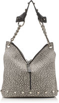 Jimmy Choo RAVEN/S Dove Washed Grainy Leather with Studs Shoulder Bag