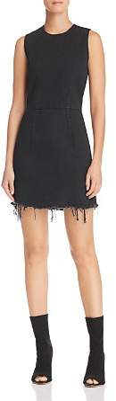 Alexander Wang Frayed-Hem Denim Dress