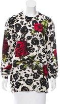 Dolce & Gabbana Rose Print Cashmere Sweater