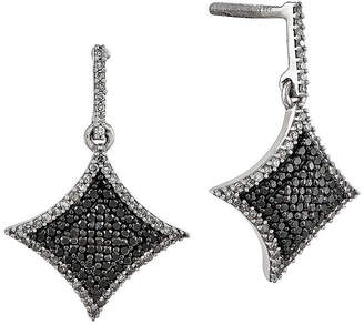 Black Diamond FINE JEWELRY 5/8 CT. T.W. White and Color-Enhanced Sterling Silver Drop Earrings
