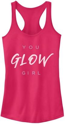 "Fifth Sun Juniors' You Glow Girl"" Racerback Tank Top"
