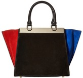 Alice + Olivia Color Block Suede Athena Satchel Satchel Handbags