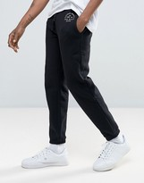 Jack Wills Gosworth Logo Sweatpants in Tapered Fit in Black