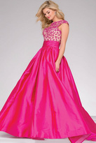 Jovani Open Back Boat Neck Ballgown 40556