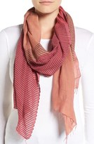 Eileen Fisher Hand Loomed Stripe Cotton Scarf