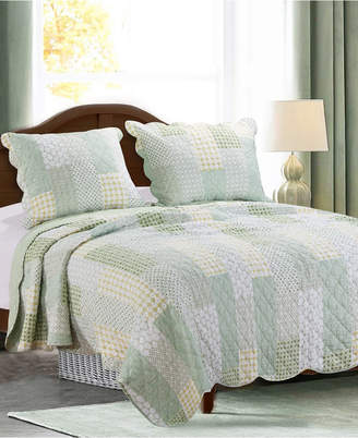 Greenland Home Fashions Juniper Quilt Set, 3-Piece Full/Queen