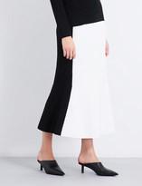 Diane von Furstenberg Colourblock knitted midi skirt