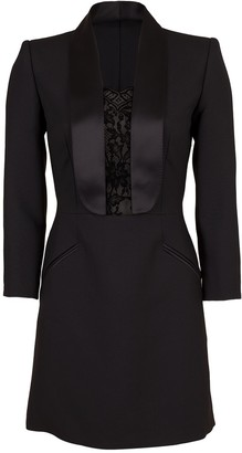 Alexander McQueen Lace Tux Dress