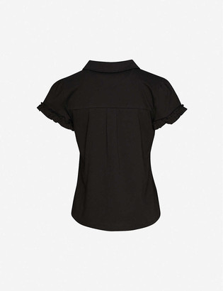 Me And Em Frill-trimmed cotton-jersey T-shirt