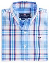 Vineyard Vines Boys' Bowhead Plaid Whale Button-Down Shirt - Little Kid