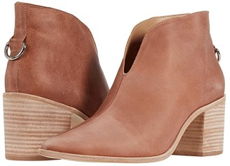 Kaanas Bellone Open Front Distressed Leather Bootie (Taupe) Women's Shoes