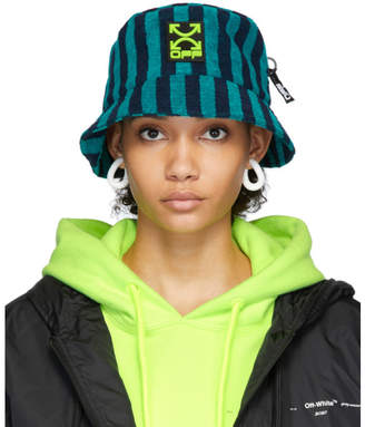 Off-White Off White Blue Towel Bucket Hat