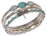 Lucky Brand Silver Bangle Set