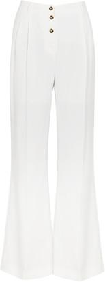 Birgitte Herskind Ruby white flared twill trousers