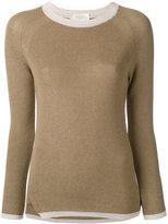 Zanone contrast neck sweater - women - Cotton/Viscose - 40