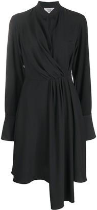 Victoria Victoria Beckham Drape-Front Band Collar Dress