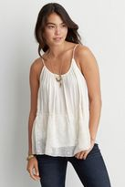 American Eagle Outfitters AE Keyhole Embroidered Cami