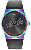 Kenzo Men's Dix-Huit Leather Strap Watch, 42mm