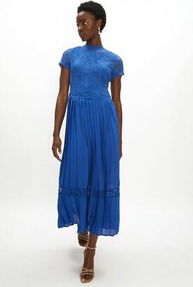 Coast Lace Bodice Pleat Skirt Maxi Dress