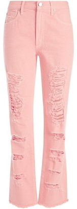 Alice + Olivia Jeans Geneivive Extreme Distressed Jeans