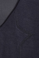 3.1 Phillip Lim Silk chiffon-sleeved jersey top