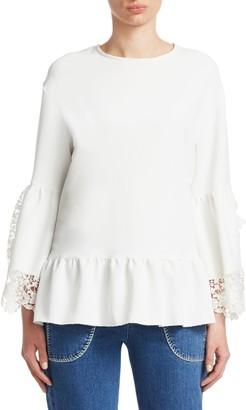 See by Chloe Lace Bell Sleeve Top