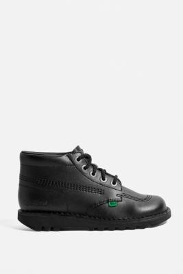 Kickers Kick Hi Black Boots - Black UK 4 at Urban Outfitters