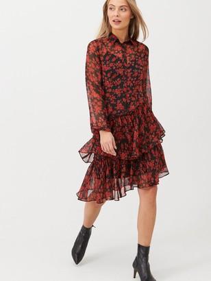 Very Ruffle Midi Dress - Print