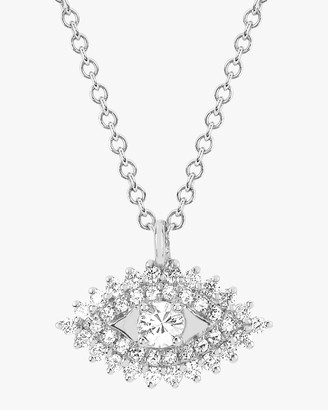 Ef Collection Diamond Evil Eye Pendant Necklace