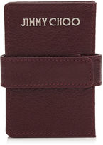 Jimmy Choo MYLA Bordeaux Soft Grained Goat Leather Concertina Card Holder