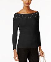 MICHAEL Michael Kors Embellished Off-The-Shoulder Sweater