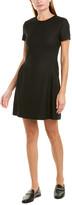 Theory Corset Waist Wool-Blend A-Line Dress