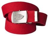 Dickies Men's Military Fabric Belt - Red